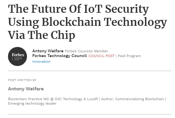 IOT Blockchain DLT