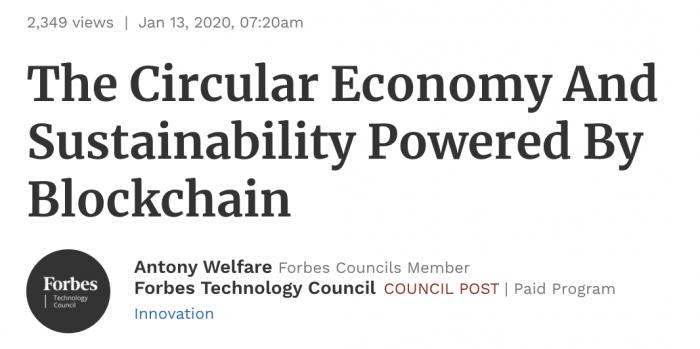 Sustainability Blockchain on Forbes